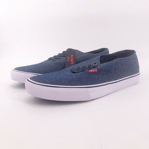 Levi's Monterey Chambray Navy Shoes Comfort Tech